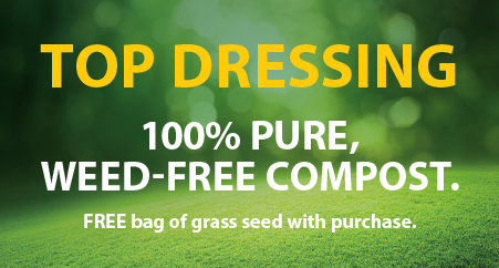 top dressing - 100% pure, weed-free compost